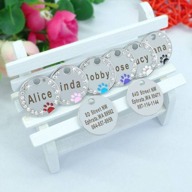 Pet Crystal Frame Customized ID Tag  My Pet World Store