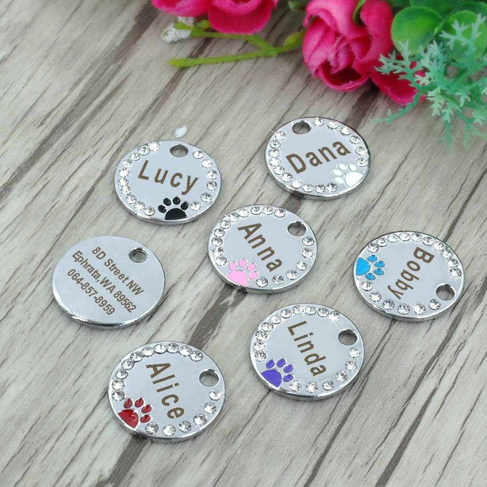 Pet Crystal Frame Customized ID Tag