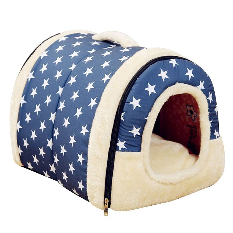 Pet's Collapsible Design Printed Warm Bed  My Pet World Store