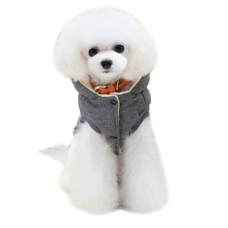Cute Comfortable Winter Hooded Dog's Vest  My Pet World Store