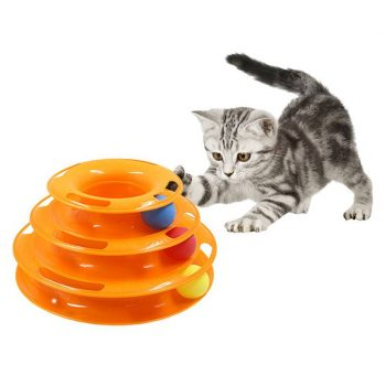 Cat's Three Levels Tower Toy  My Pet World Store