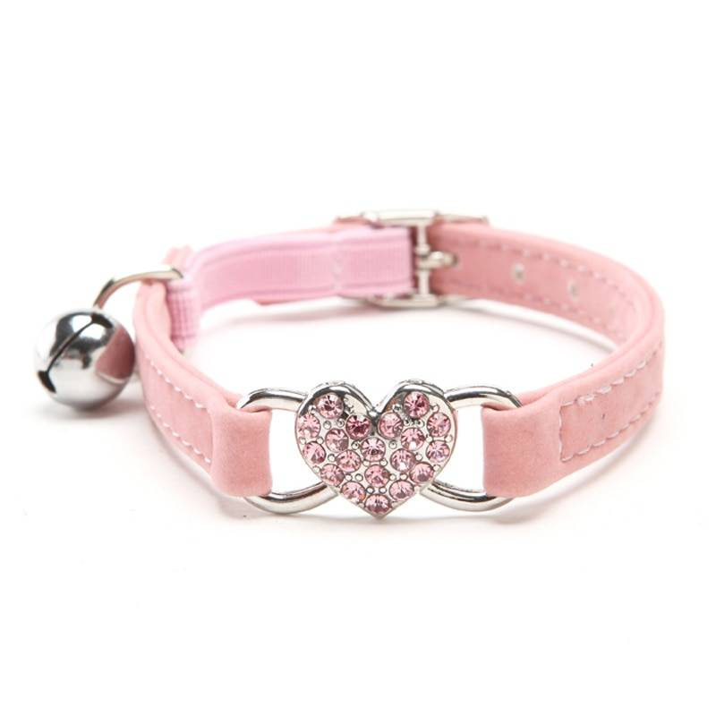 Cats Collar with Bell and Heart-Shaped Decoration  My Pet World Store