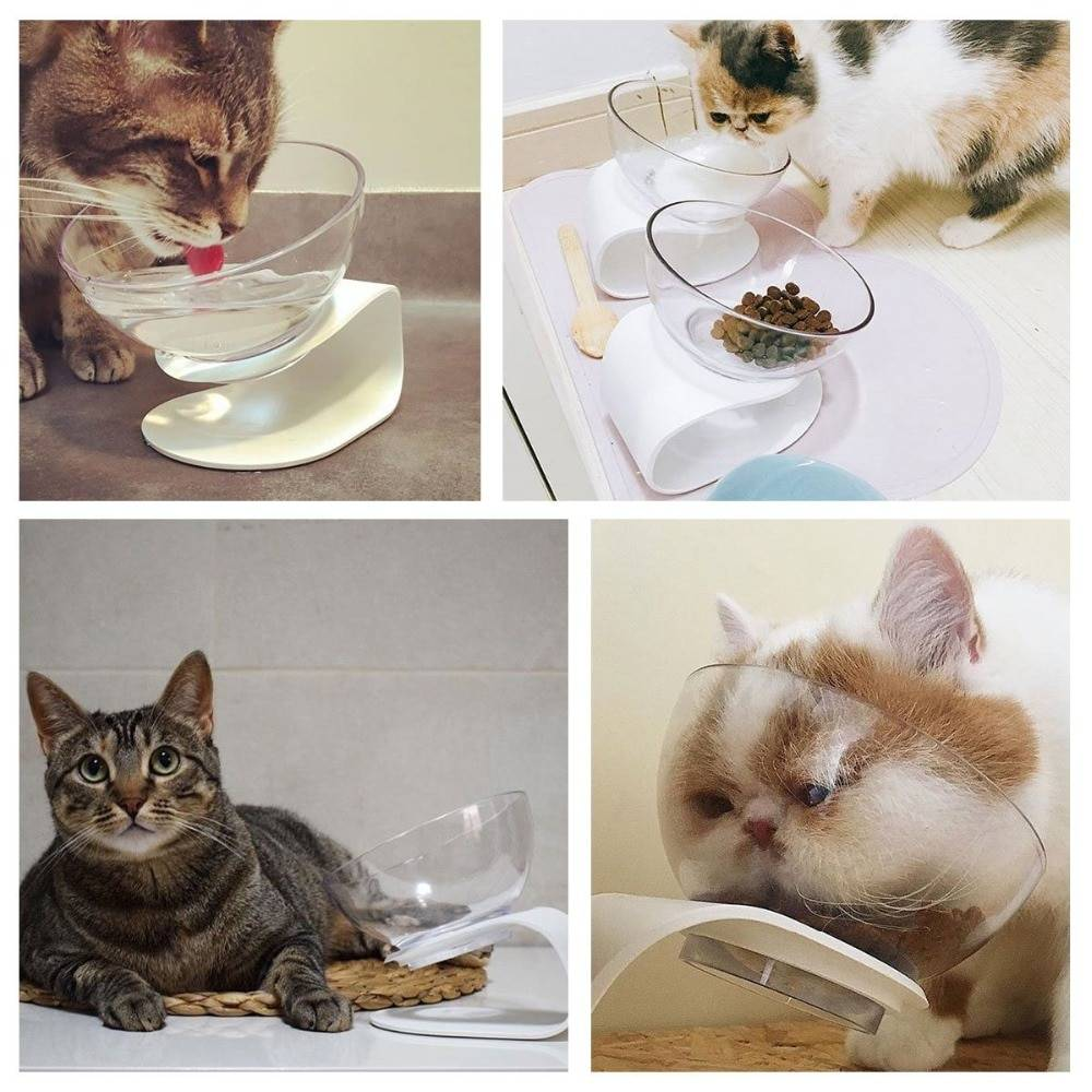 Stylish Long Feeding Bowl for Pets