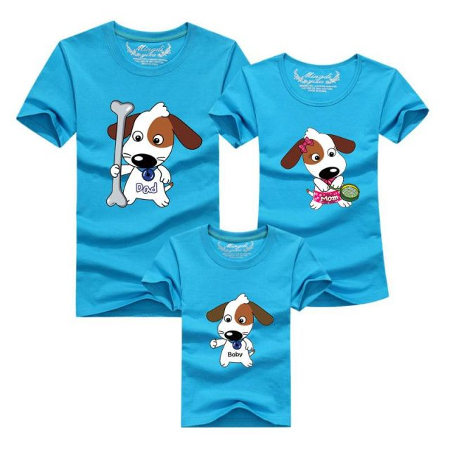 Puppy Family Matching Cotton T-Shirts Set  My Pet World Store