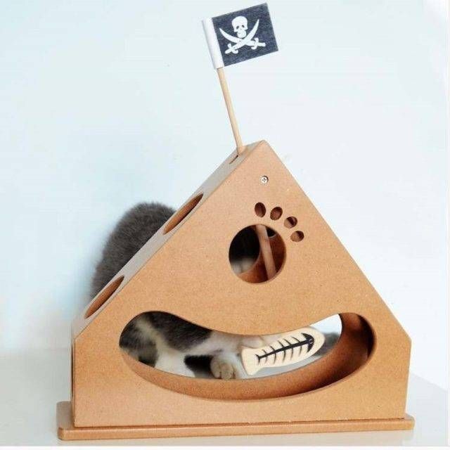 Pirate Themed Stylish Scratching House Toy for Cats  My Pet World Store