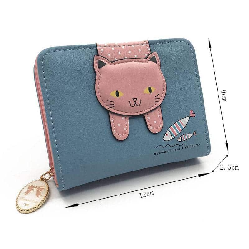 Women's Cute Cat Printed Wallet  My Pet World Store