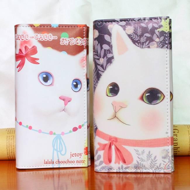 Women's Soft Cat Printed Long Wallets  My Pet World Store