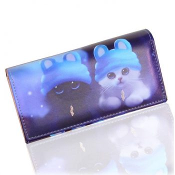 Women's Soft Cat Printed Long Wallets  My Pet World Store