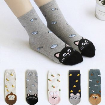 Women's Cute Cat Printed Socks  My Pet World Store