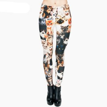 Women's Cat Printed Leggings  My Pet World Store