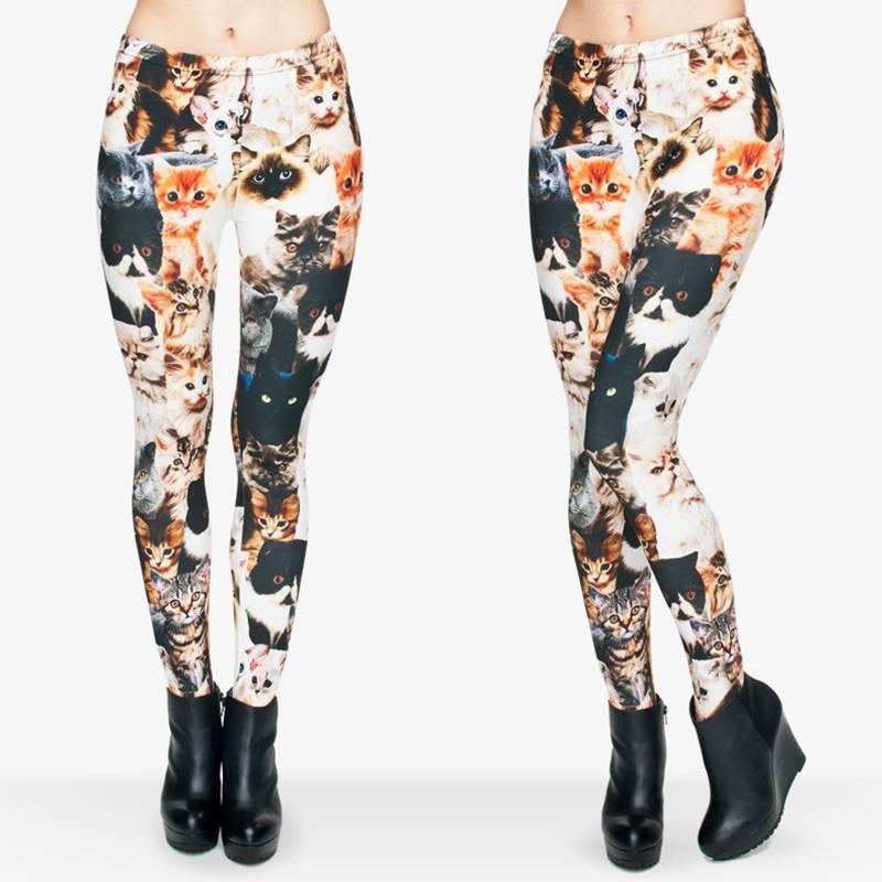 Women's Cat Printed Leggings  My Pet World Store