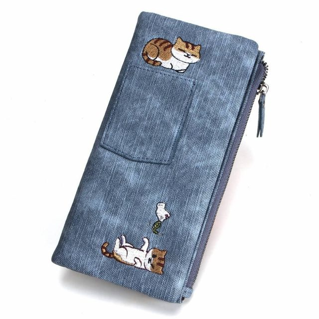 Women's Cat Printed Leather Wallet  My Pet World Store