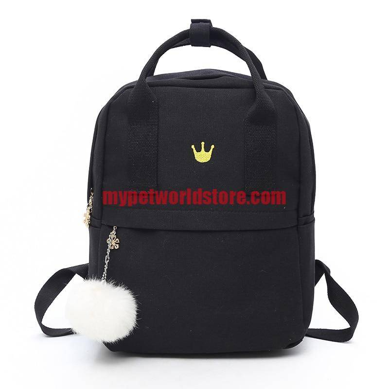 Women's Cat Printed Casual Backpack  My Pet World Store