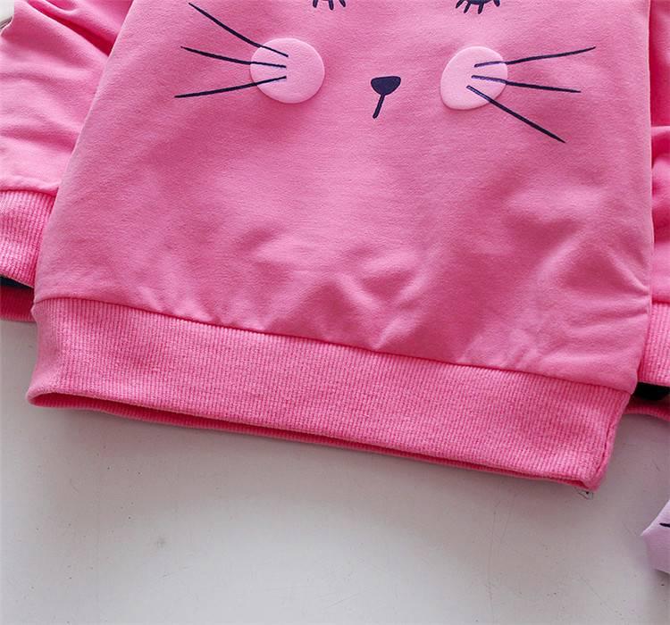 Baby's Cat Printed Sweatshirt