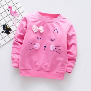 Baby's Cat Printed Sweatshirt  My Pet World Store