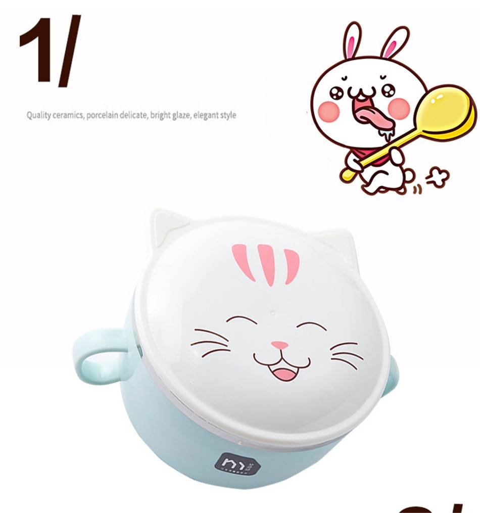 Cat Printed Stainless Steel Lunch Box for Kids