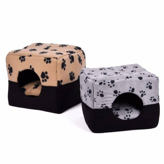 Paws Printed Soft Sleeping Bed for Cats  My Pet World Store