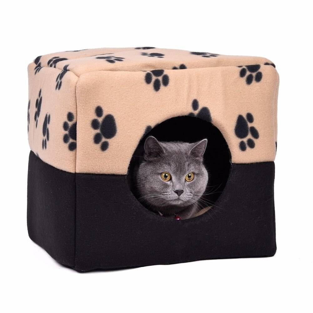Paws Printed Soft Sleeping Bed for Cats