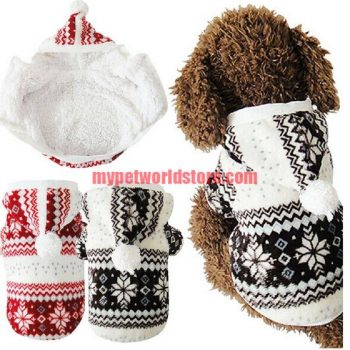 Warm Hooded Fleece Dog's Jacket  My Pet World Store