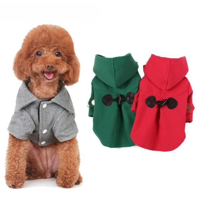 Casual Warm Hooded Coat for Dog  My Pet World Store