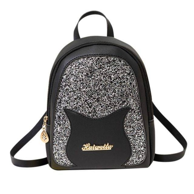 Girl's Cat Themed Sequined Backpack  My Pet World Store
