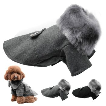 Winter Warm Furry Dog's Jacket  My Pet World Store