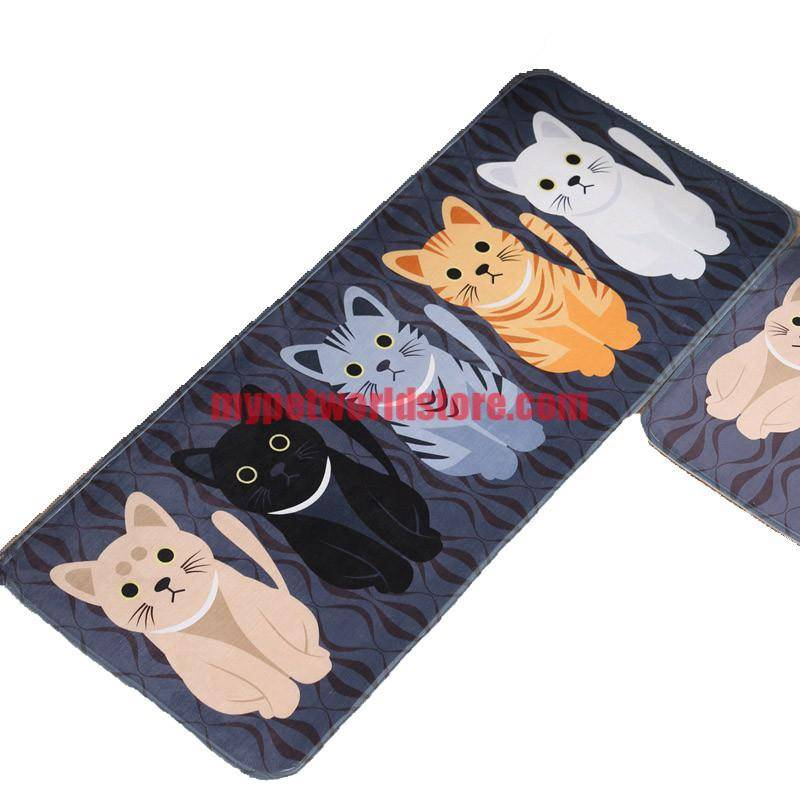 Cute Non-Slip Floor Mats With Cats Prints  My Pet World Store