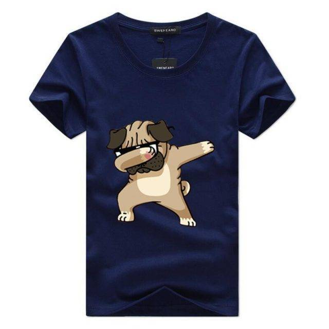 Men's Dog Printed T-Shirt  My Pet World Store