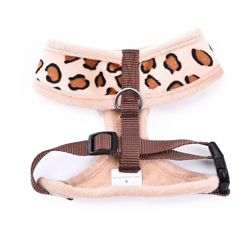 Leopard Printed Belt and Harness Set for Dogs