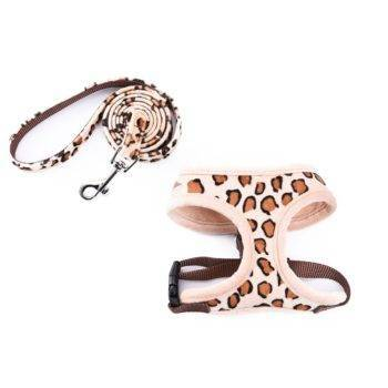Leopard Printed Belt and Harness Set for Dogs  My Pet World Store