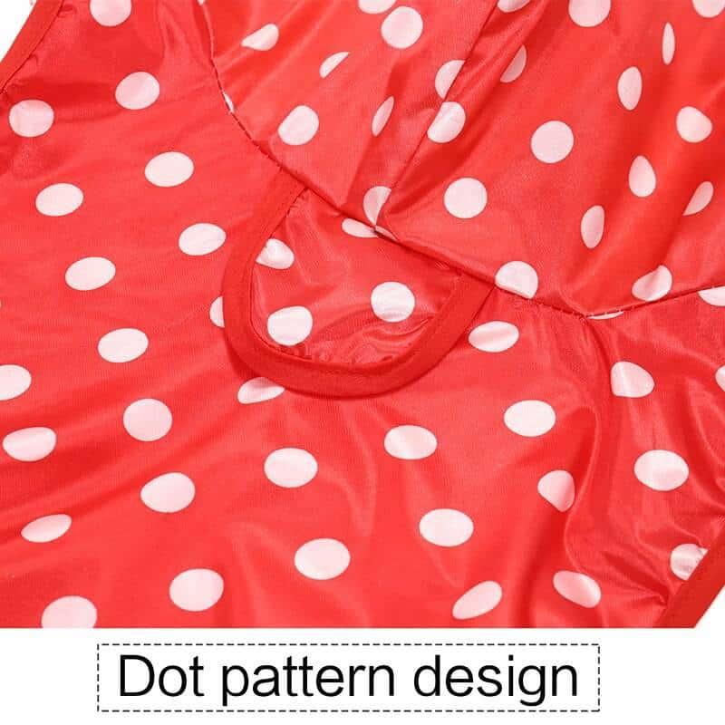 Polka Dot Printed Raincoat for Dogs