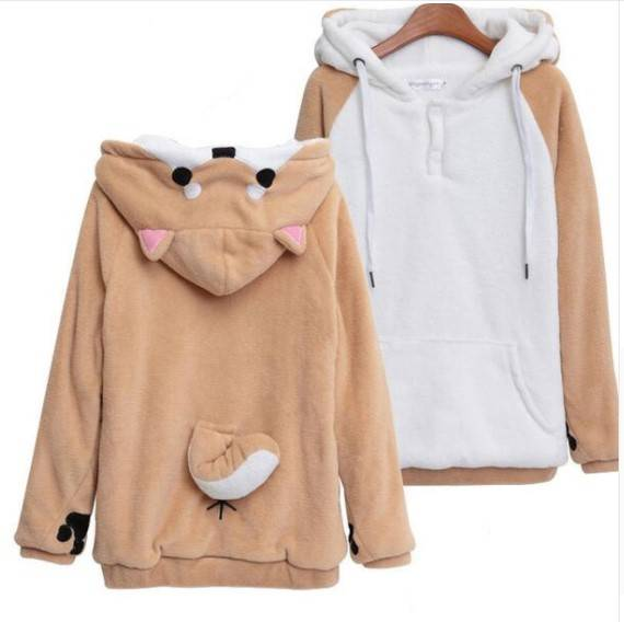 Women's Kawaii Shiba Inu Dog Printed Hoodie  My Pet World Store