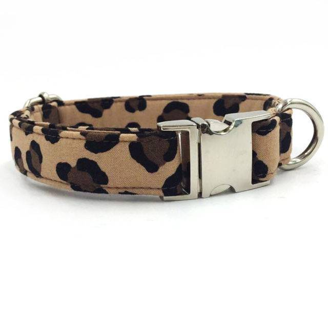 Dog's Leopard Patterned Collar and Leash Set  My Pet World Store
