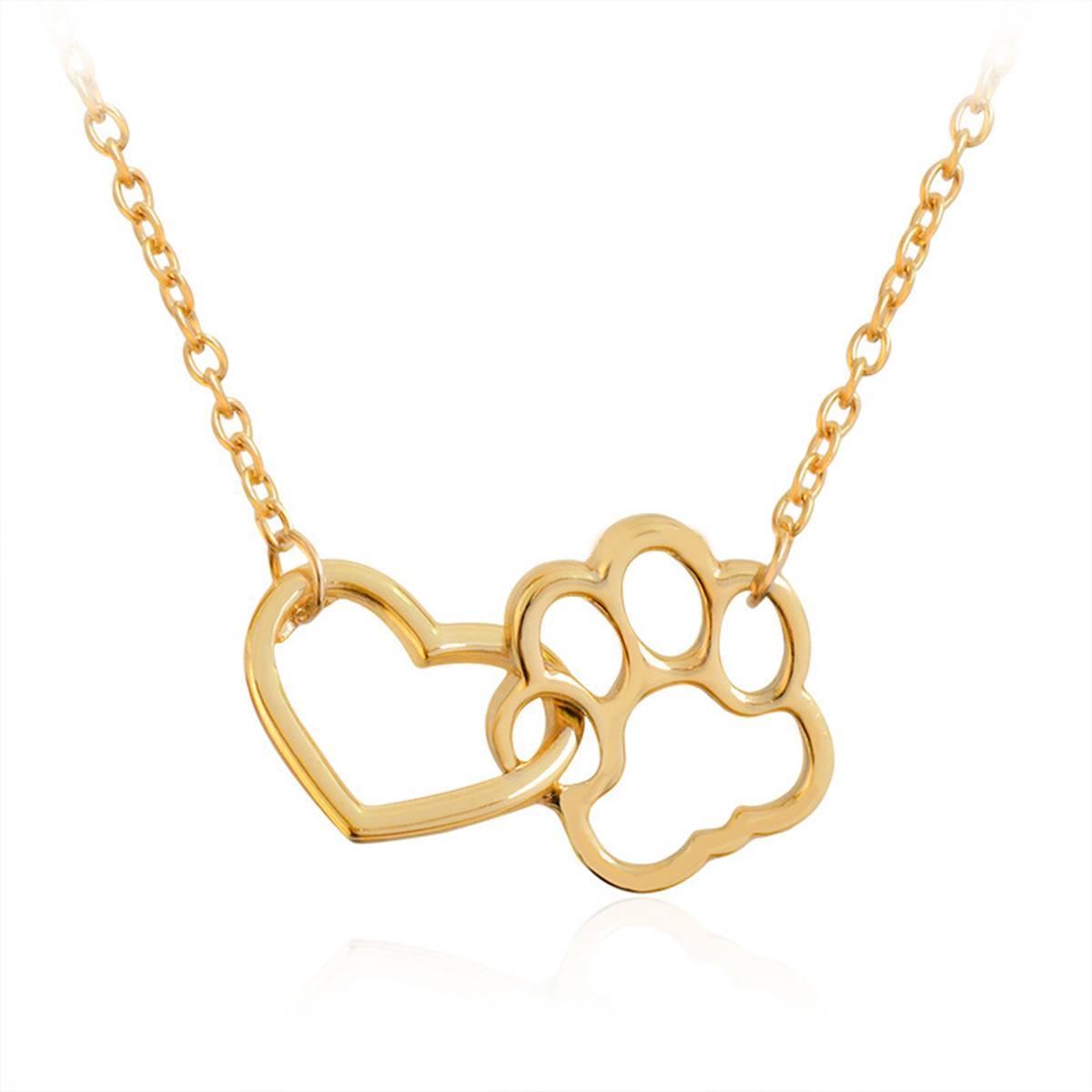 Dog Paw & Heart Pendant Necklace  My Pet World Store