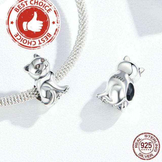 Cute Baby Cat Metal Beads Charm Bracelet 925 Sterling Silver Jewelry  My Pet World Store