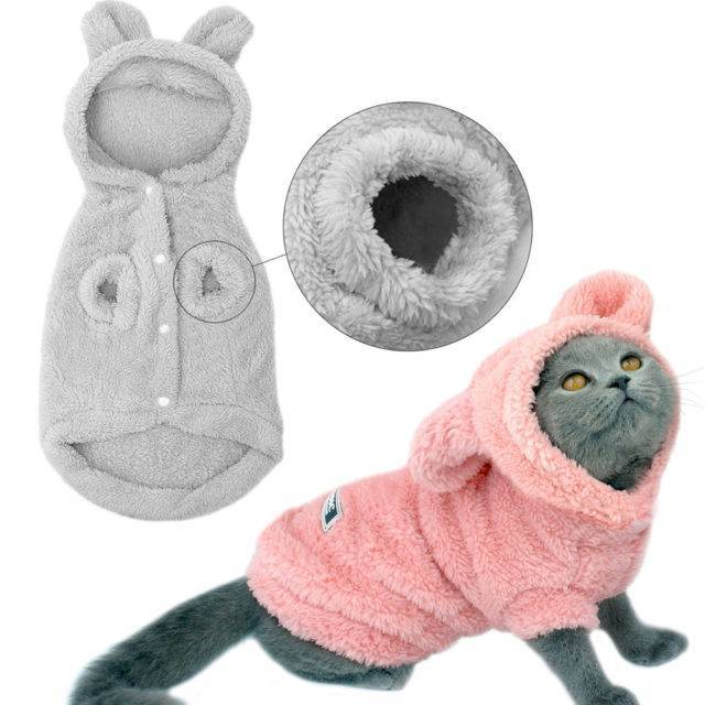Cat Warm Hoodies  My Pet World Store