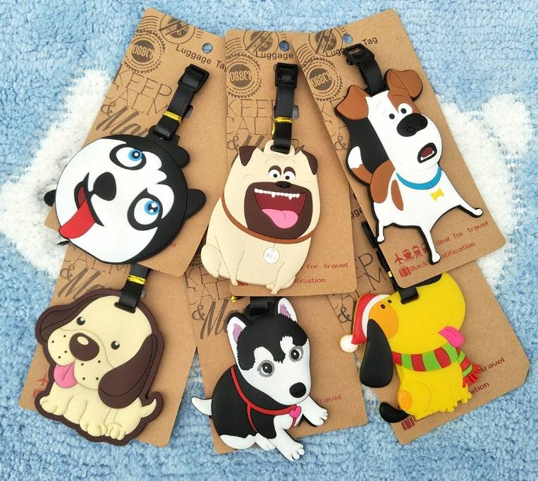 Dogs Anime Travel Accessories Luggage Tag  My Pet World Store