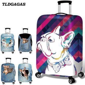 Fabric Pet Pattern Luggage Suitcase Protective Cover  My Pet World Store