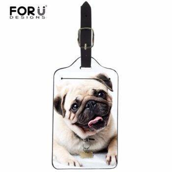 Luggage Bags Accessories PU Leather Pug Tag  My Pet World Store