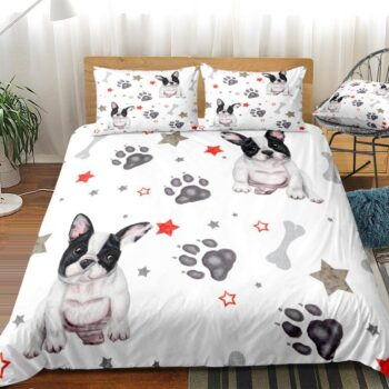 3 Pieces French Bulldog Design Bed Set  My Pet World Store