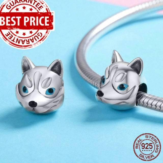 925 Sterling Silver Dog Head Charm Beads Jewelry  My Pet World Store