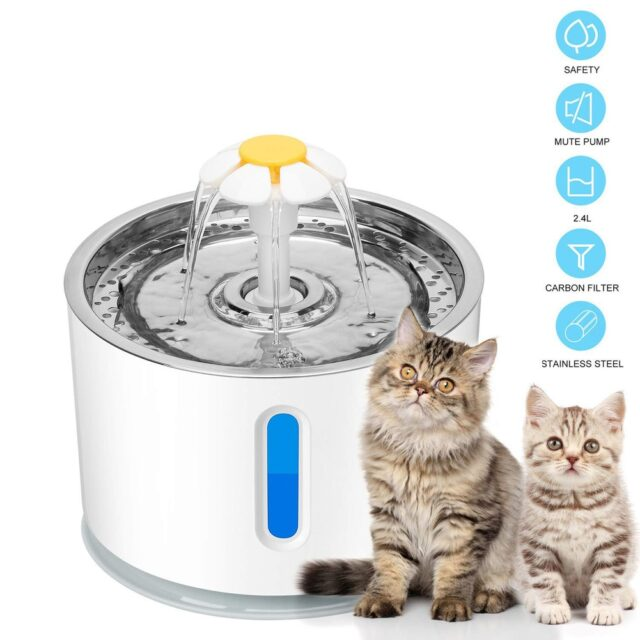 Automatic Cat Water Fountain Ultra Quiet USB-2,4 L  My Pet World Store