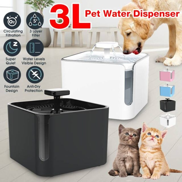 Automatic Pet Drinking Fountain 360° Circulating Filtration -3L  My Pet World Store
