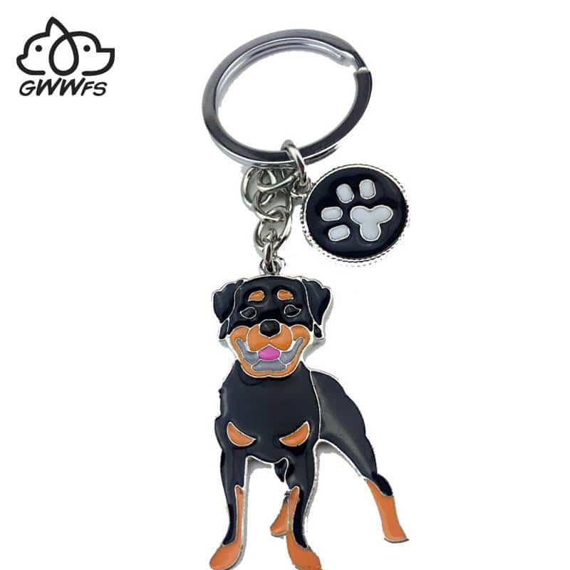 Rottweiler dog pendant key ring  My Pet World Store