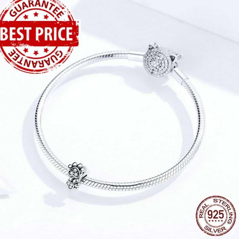Pet's Footprint Stopper Charm with Bracelet for Women Original Silver 925  My Pet World Store