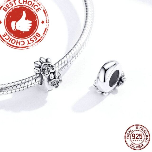 Pet's Footprint Stopper Charm with Bracelet for Women Original Silver 925  My Pet World Store