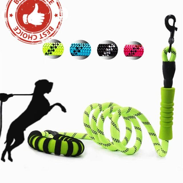 Strong Reflective Medium Large Dog Leash Double Handles  My Pet World Store