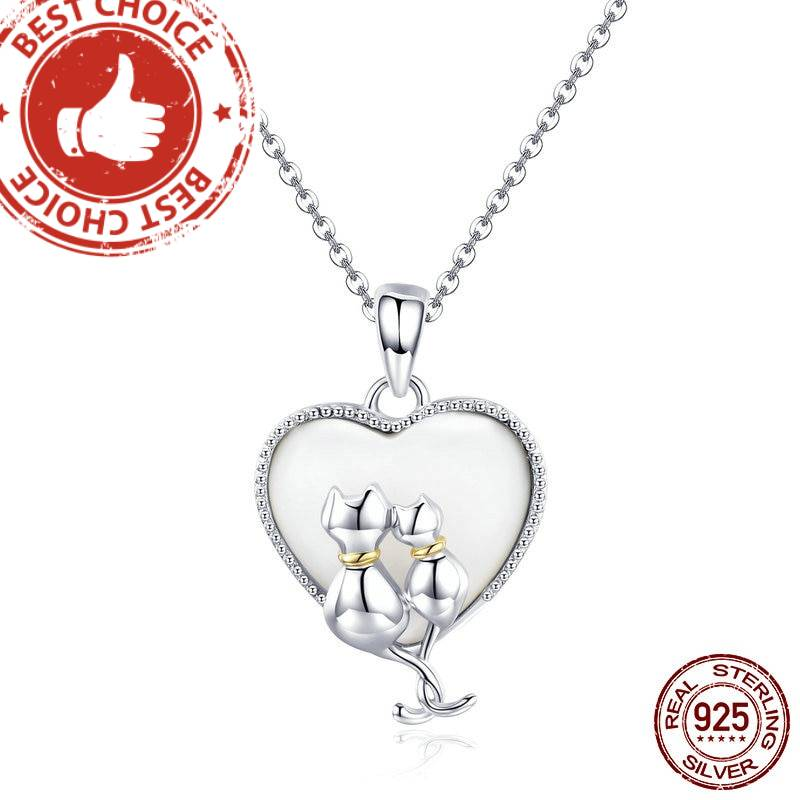 925 Sterling Silver Couple of Cats Necklaces Pendant  My Pet World Store