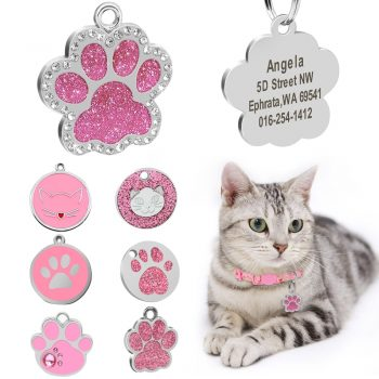 Personalized Cat ID Glitter Tag  My Pet World Store