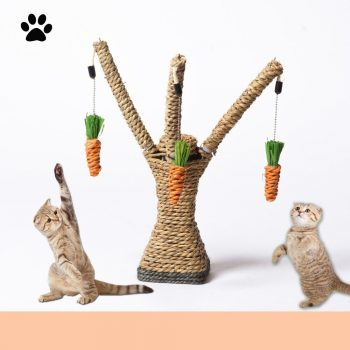 Funny Cat Scratch Board Interactive Toys Kitten Sisal Scratching Post And Pad Cat Tower Climbing Toys Activity Tree With Perches  My Pet World Store